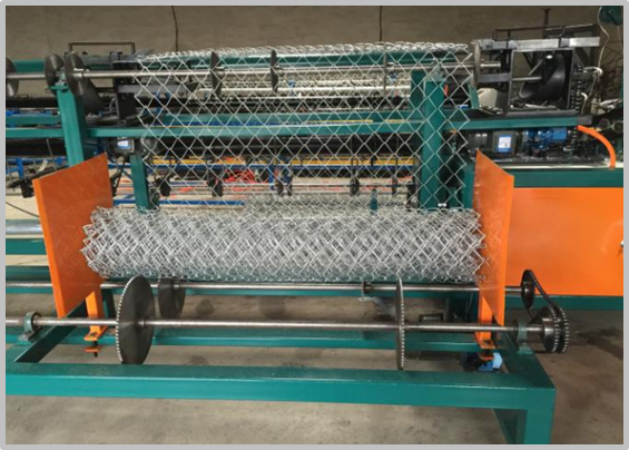Fully Automatic Chain Link Fence Machine For Galvanized Wire / Black Wire