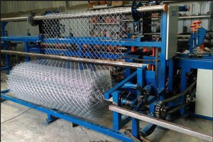 3M Width Chain Link Machine For Highway Guard / Railway Anti Corrosion