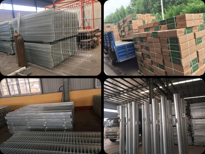Galvanized Steel Welded Wire Fence / 14 Gauge Welded Wire Fence Anti Corrosion