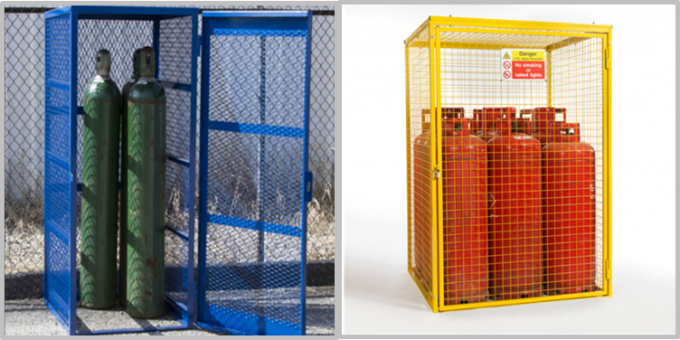 Welded Galvanized Gas Cylinder Cages With Powder Coated For Industry