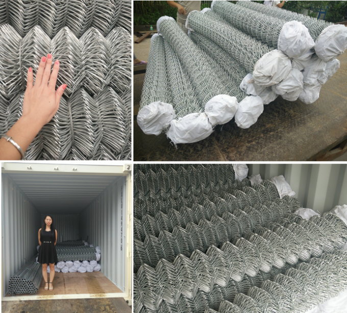 G.I. Or PVC Coated Chain Link Fence Roll 1.2 mm 1.5 mm 2.3 mm 2.5mm 3.0mm 3.6mm
