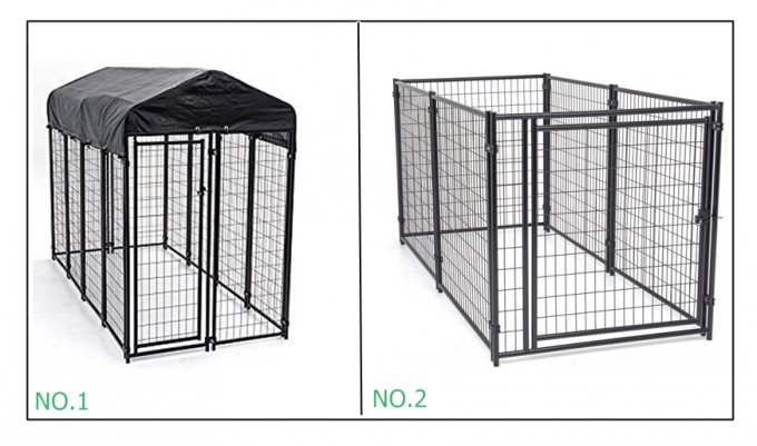 Low Carbon Steel Wire Chain Link Dog Kennel / Outdoor Dog Enclosures