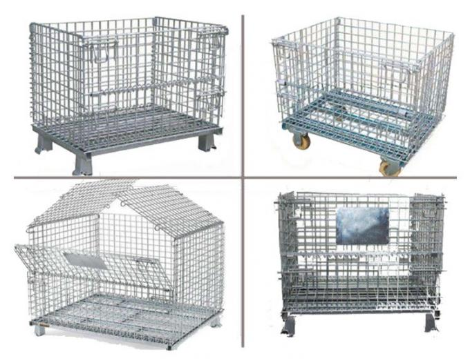 Galvanized Mesh Storage Cage Wire Mesh Container 4.8-6.0mm Wire Dia