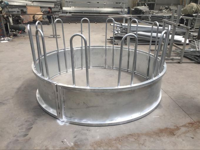 Metal Galvanized Steel Round Bale Pasture Hay Rack Livestock Feeder