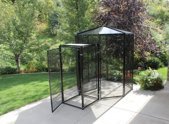 Welded Wire Lifestyle Deluxe Metal Bird Aviary Powder Coated Black Color