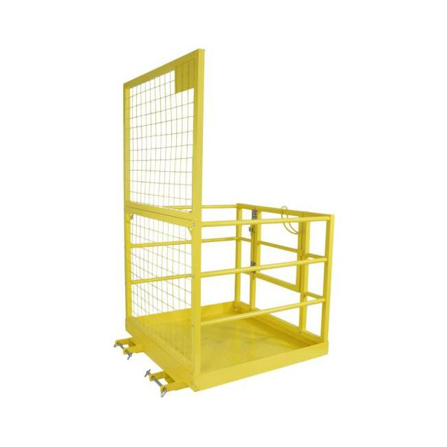 "45"" X 43"" Forklift Platform Mesh Storage Cage 2 Person Capacity 82'' Height"