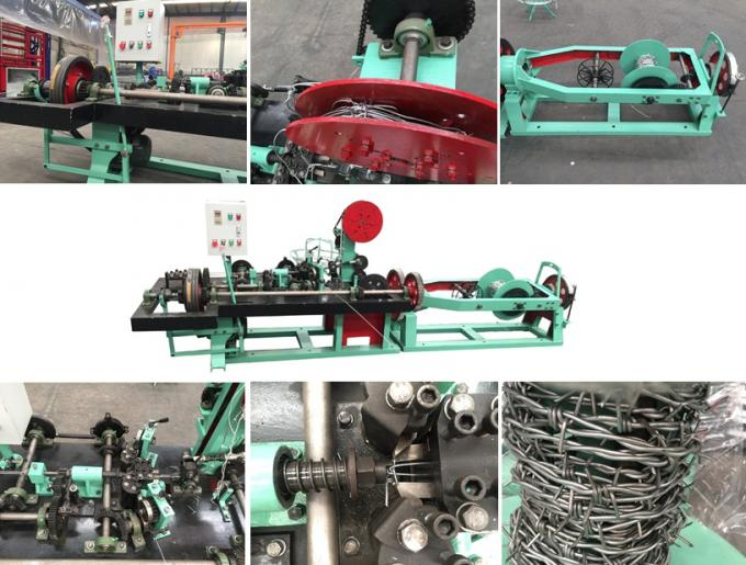 Two Wire Twist Barb Wire Chain Link Machine With Easy Operate And High Output