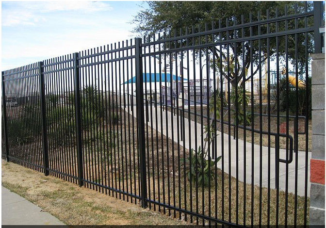 High Security Outdoor Metal Fence Decoration For Home And School
