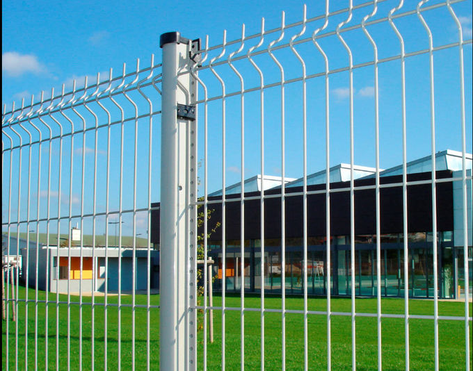 Customized Welded Mesh Security Fencing , Green Pvc Coated Welded ...