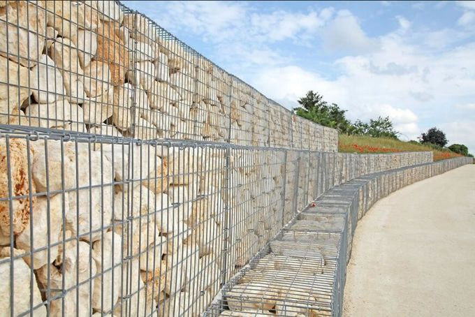 100x100x50cm Welded Gabion Wire Mesh Retaining Wall For Building Square Hole Shape