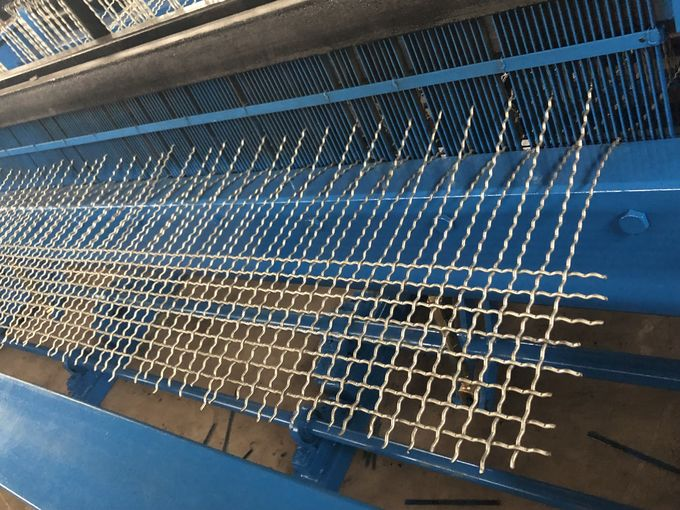 Fully Automatic Crimped Wire Mesh Weaving Machine 0.5mm-12mm Wire Diameter